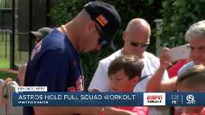Houston Astros hold full squad workout [Video]
