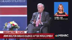 John Bolton spoke at Duke University about upcoming book [Video]