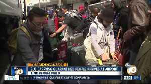 Evacuees arrive at airport, react to release from quarantine [Video]