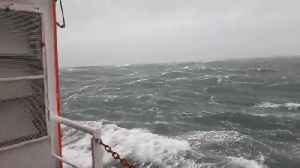 Boat in the North Sea documents the intensity of Storm Ciara [Video]