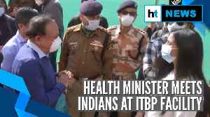 Coronavirus: Health Minister meets 1st batch of Indians tested negative [Video]