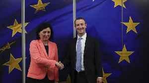 EU warns Facebook: don't 'push away' responsibility over regulation [Video]