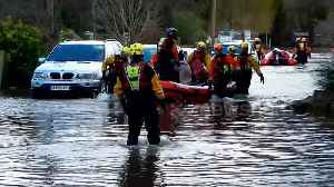 Elderly lady in wheelchair rescued from floods in Herefordshire [Video]