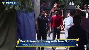 Kartik Aryan, Tara Sutaria spotted at flim city in Mumbai [Video]