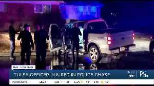 Tulsa officer injured in police chase [Video]