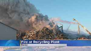 Fire Breaks Out At Becker Metal Recycling Facility [Video]