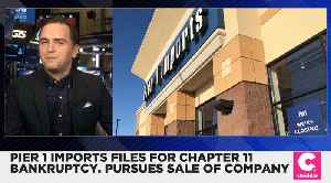 Pier 1 Imports Files for Chapter 11 Bankruptcy [Video]