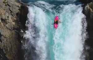 Daredevil kayaker makes a splash over 41-metre high waterfall [Video]