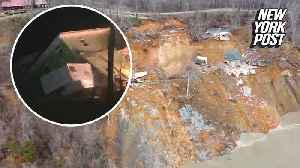 Landslide in Tennessee sends two homes to their doom [Video]