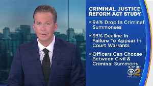 Drop In Criminal Summonses From NYPD Linked To Criminal Justice Reform Act [Video]