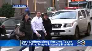 Jury Deliberations Resume Today In Trial Of Former Temple Fraternity President [Video]