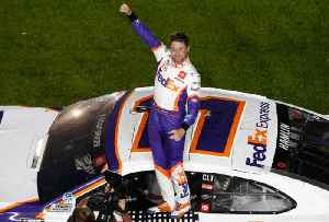 Denny Hamlin's Third Daytona 500 Win Overshadowed By Ryan Newman Crash [Video]