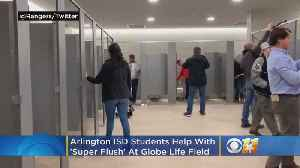 Arlington ISD Students Help With 'Super Flush' At Globe Life Field [Video]
