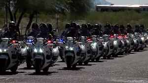 Procession for fallen Arizona officer leaves Pima County [Video]