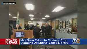 Witnesses: Man With Knife Attacked Rockland County Library Security Guard [Video]