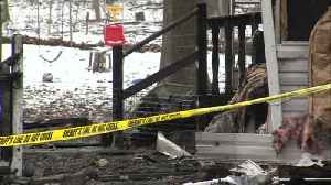 Fire destroys home on Valentine's Day [Video]