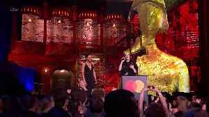 Whitehall & Styles share awkward moment at BRIT Awards [Video]