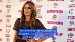 Caroline Flack's Death Ruled a Suicide Following Release of Unpublished Instagram Post [Video]