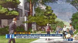 1,200 homes proposed for old golf course [Video]