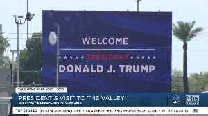 'Free speech' area designated at President Trump's rally in Phoenix [Video]