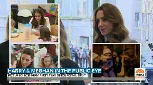 News video: Meghan Markle And Prince Harry Photographed Together For 1st Time Since 'Step Back'