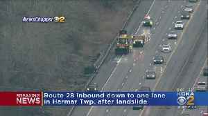 Route 28 South Closed Due To Landslide [Video]