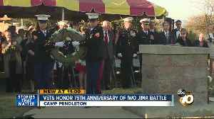 Vets honor 75th anniversary of Iwo Jima battle [Video]