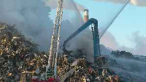 Fire At Becker Metal Recycling Plant Rages On [Video]