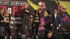 Fury ready for 'war' against Wilder in Las Vegas [Video]