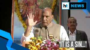 'To intimidate and forcefully convert someone is a sin': Rajnath Singh [Video]
