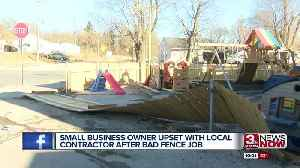 Local daycare owners upset with contractor after bad fence job [Video]