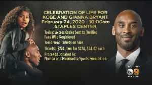 Tickets For Kobe And Gianna Bryant Memorial Almost On Sale [Video]