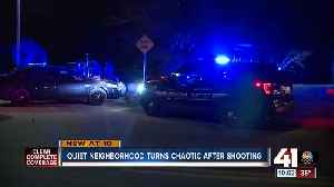 Quiet neighborhood turns chaotic after shooting [Video]