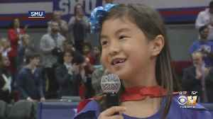 7-Year-Old Girl Wows SMU Basketball Audience With National Anthem Performance [Video]