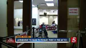 'Tennessee Tuesday Act' aims to give Tennesseans first say in 2024 election [Video]