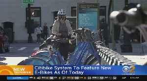 Citi Bike Adds E-Bikes To Fleet [Video]