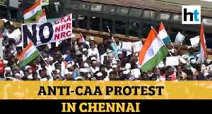 Watch: Protesters carry out anti-CAA march in Chennai amid tight security [Video]