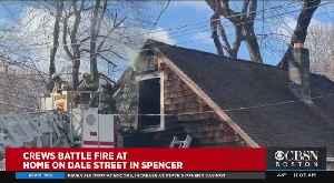 Crews Battle Fire In Spencer [Video]