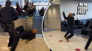 Dallas airport fight sparked by a cigarette ends in Taser fire [Video]