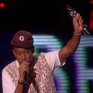 News video: Tyler the Creator calls out Theresa May at the Brit Awards