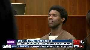 Starbucks machete attacker gets 7 years to life [Video]