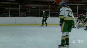 Lakeland hockey team credits new home for winning district [Video]