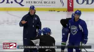 Comets focused on individual play, better starts [Video]