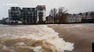 Localised flooding causes river to swell in Cumbria, UK [Video]