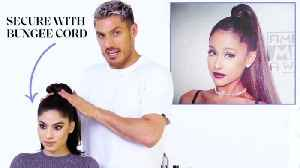 Chris Appleton's Ponytail Masterclass: Ariana Grandé, Kim Kardashian, and Jennifer Lopez [Video]