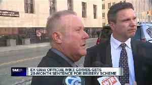 Lifelong UAW member sentenced in corruption case, members follow him to court [Video]