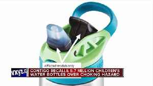 Contigo recalls 5.7 million children's water bottles over choking hazard [Video]