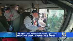 Patriots Owner Robert Kraft Makes Donation To NH Soup Kitchen [Video]