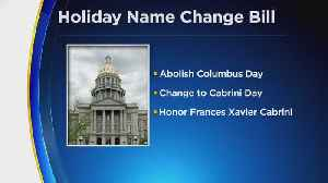 Colorado House Passes Bill To Replace Columbus Day [Video]