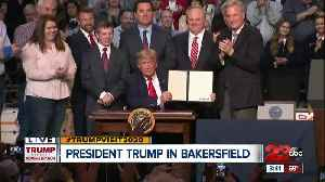 News video: President Donald Trump addresses local farmers in Kern County